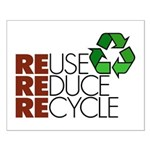 Reuse Reduce Recycle Small Poster