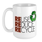 Reuse Reduce Recycle Large Mug