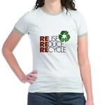 Reuse Reduce Recycle Jr. Ringer T-Shirt