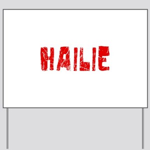 Hailie Faded (Red) Yard Sign