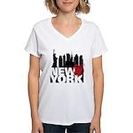 New York Women's V-Neck T-Shirt