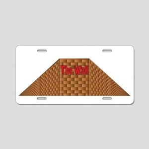 Isolated Perspective Graffi Aluminum License Plate