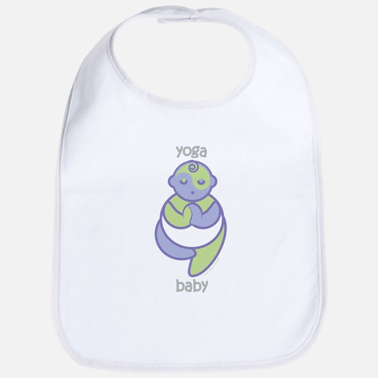 Yoga Baby : Purple & Green Bib
