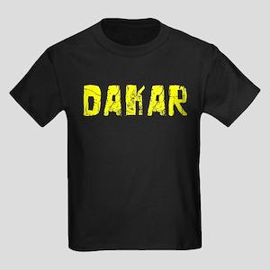 Dakar Faded (Gold) Kids Dark T-Shirt