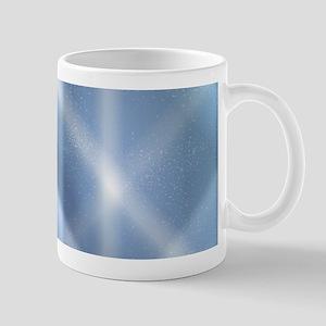 Blue Sky Snow Background Mugs
