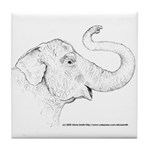 Tricia the Indian Elephant Tile Coaster