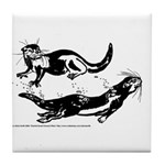 Oriental Small Clawed Otter Tile Coaster