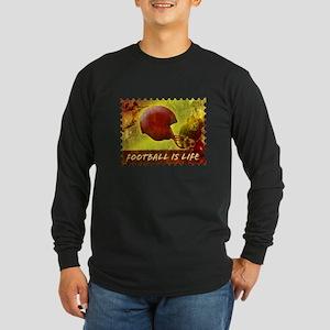 Football Life Color Long Sleeve Dark T-Shirt