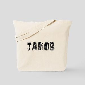 Jakob Faded (Black) Tote Bag