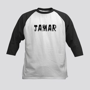 Jamar Faded (Black) Kids Baseball Jersey