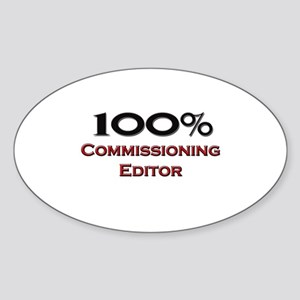 100 Percent Commissioning Editor Oval Sticker