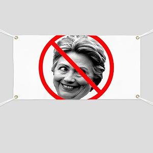 Anti-Hillary Clinton Banner