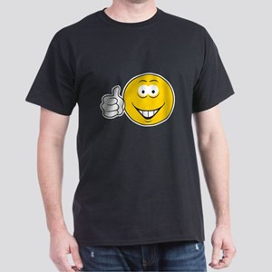 Thumbs Up Smiley Face Dark T-Shirt