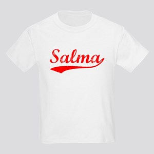 Vintage Salma (Red) Kids Light T-Shirt
