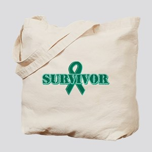 Green Ribbon Survivor Tote Bag
