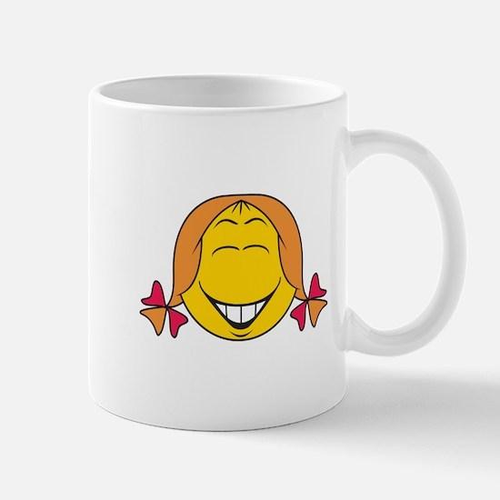 Cute Girl Smiley Face Mug