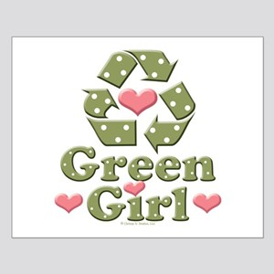 Green Girl Recycling Recycle Small Poster