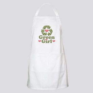Green Girl Recycling Recycle BBQ Apron