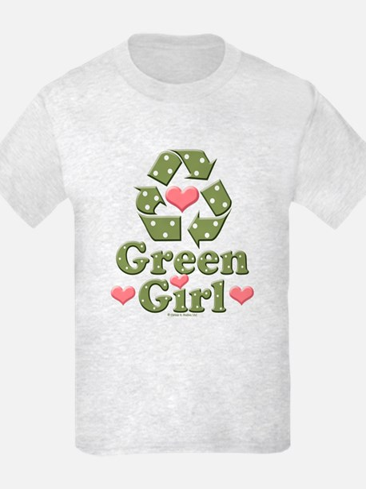 Green Girl Recycling Recycle T-Shirt