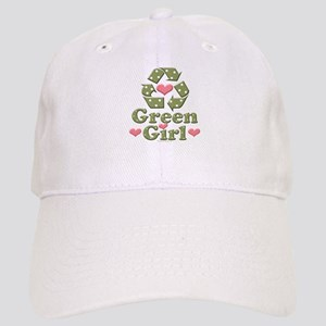 Green Girl Recycling Recycle Cap