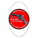 Infringement Oval Sticker (50 pk)