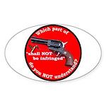 Infringement Oval Sticker (10 pk)