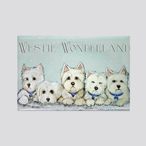 Westie Wonderland Rectangle Magnet