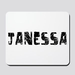 Janessa Faded (Black) Mousepad