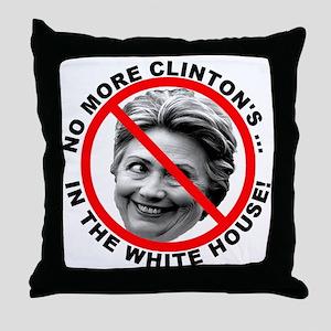 Anti-Hillary White House Throw Pillow