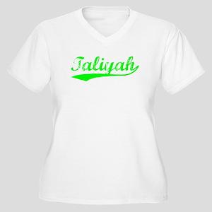 Vintage Taliyah (Green) Women's Plus Size V-Neck T