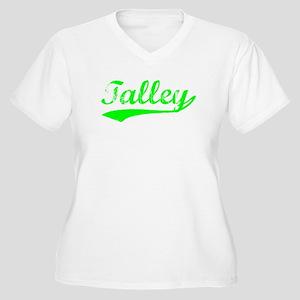 Vintage Talley (Green) Women's Plus Size V-Neck T-