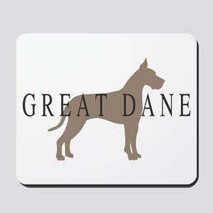 great dane greytones Mousepad