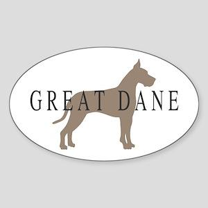 great dane greytones Oval Sticker