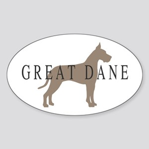 great dane greytones Oval Sticker