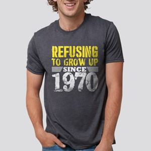 Refusing To Grow Up Since 1970 Vintage Old T-Shirt