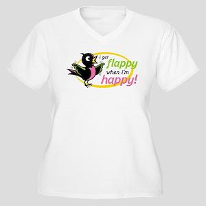 Flappy/Happy (GP) Women's Plus Size V-Neck T-Shirt