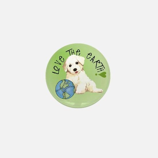 Earth Day Bichon Mini Button