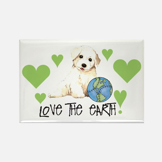 Earth Day Bichon Rectangle Magnet