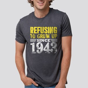 Refusing To Grow Up Since 1943 Vintage Old T-Shirt