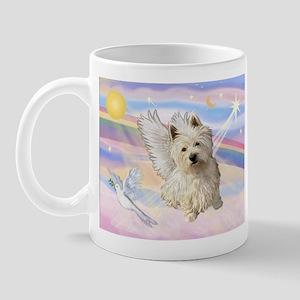 Westie Angel in Clouds Mug