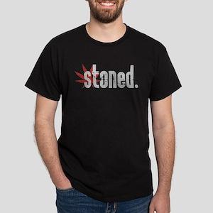 Vintage Stoned (Red Pot Leaf) Dark T-Shirt