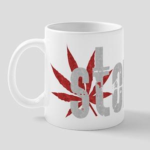 Vintage Stoned (Red Pot Leaf) Mug