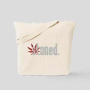 Vintage Stoned (Red Pot Leaf) Tote Bag