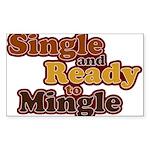 Single and Ready to Mingle Ba Rectangle Sticker