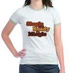 Single and Ready to Mingle Ba Jr. Ringer T-Shirt