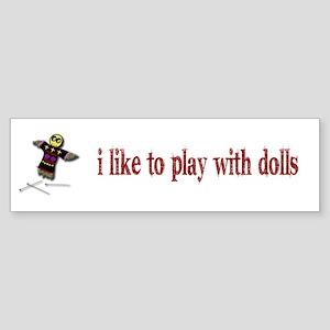 Voodo Doll Bumper Sticker