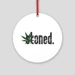 Vintage Stoned (Green Pot Leaf) Ornament (Round)