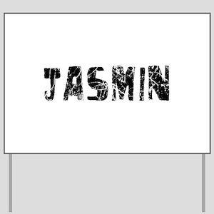 Jasmin Faded (Black) Yard Sign