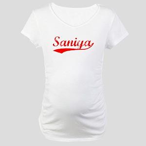 Vintage Saniya (Red) Maternity T-Shirt