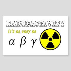 Radioactivity Sticker